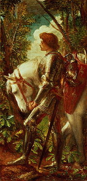 Sir Galahad, a mediaeval hero displaying qualities that Lord Halisham thought everyone could display under duress