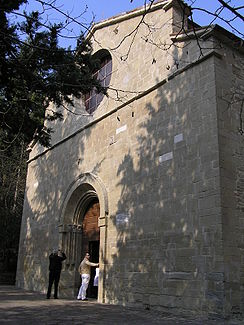 Façade of the abbey of Sant'Ellero.