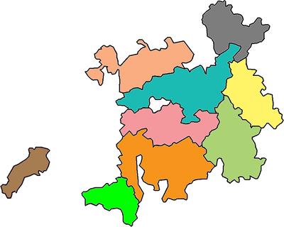 赣语的九片方言