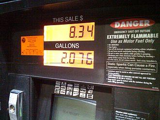 Fuel dispenser - A pump display in Jacksonville, Florida
