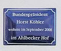 Gedenktafel Dünenstr 47 (Ahlbeck) Horst Köhler.jpg