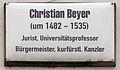 Gedenktafel Markt 3 (Wittenberg) Christian Beyer.jpg