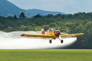 Agricultural aircraft aircraft for supporting agriculture, primarily through aerial spraying