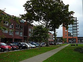 ab597e66365 Centrum van Wolvega met het gemeentehuis van Weststellingwerf