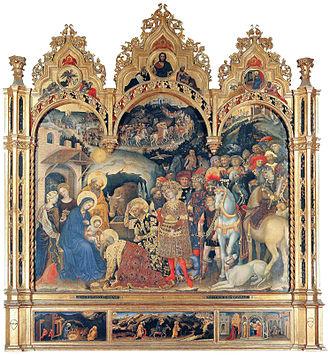 Adoration of the Magi (Gentile da Fabriano) - Image: Gentile da Fabriano 001