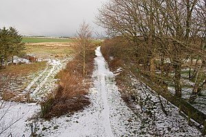 Formartine and Buchan Way - Udny Station looking along the footpath.