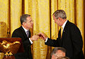 George Bush toast with Alvaro Uribe Velez.jpg