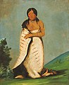 George Catlin - Hee-láh-dee, Pure Fountain, Wife of The Smoke - 1985.66.96 - Smithsonian American Art Museum.jpg