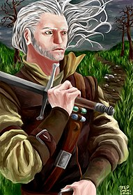 Fan art di Geralt