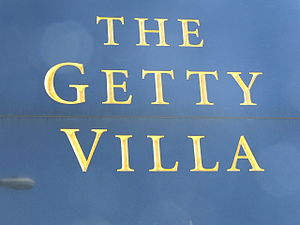 Getty Villa ( Los Angeles ). Sign.