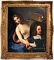 Gian domenico cerrini, la pittura regge l'autoritratto del pittore, 1650 ca., 01.jpg