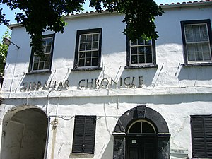 Communications in Gibraltar - The Gibraltar Chronicle is the world's second oldest English language newspaper to have been in print continuously.
