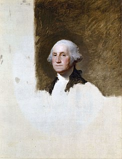 <i>Athenaeum Portrait</i> painting by Gilbert Stuart