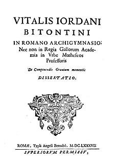 Giordano Vitale Italian mathematician (1633–1711)