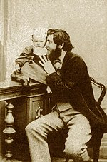 Giorgio Sommer with his son Edmondo in 1864- self portrait.jpg
