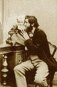 Giorgio Sommer with his son Edmondo in 1864- self portrait.jpg