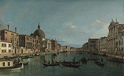 Canaletto: Venice: The Upper Reaches of the Grand Canal with S. Simeone Piccolo