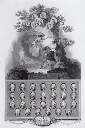 Glorious First of June - 1802 engraving commemorating the Glorious First of June.