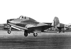 1941 in science - The Gloster E.28/39, the first British aircraft to fly with a turbojet engine