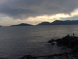 Gulf of La Spezia - The gulf seen from Tellaro.