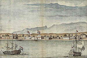 Bandar Abbas - English and Dutch trading posts in Bandar Abbas in 1704
