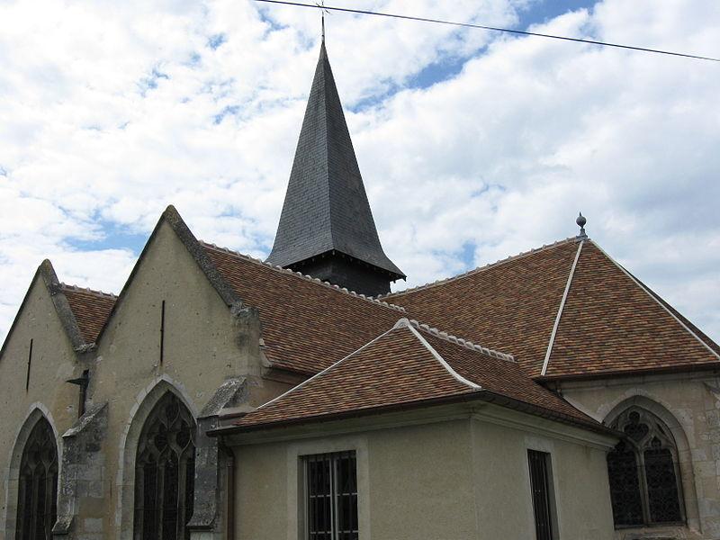 Église Saint-Crépin-et-Saint-Crépinien de Gommecourt. (département des Yvelines, région Île-de-France).