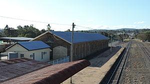 Warwick railway station, Queensland - Goods shed, Warwick railway station, 2015