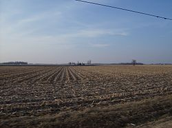Goshen Township includes wide areas of flat farmland