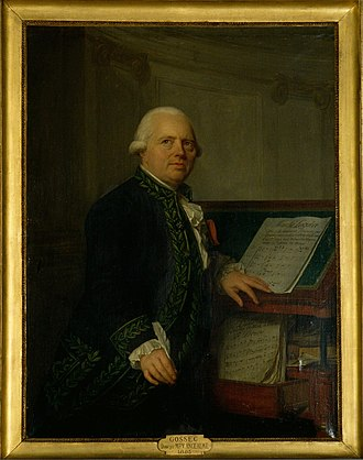 François-Joseph Gossec - François-Joseph Gossec, by Antoine Vestier