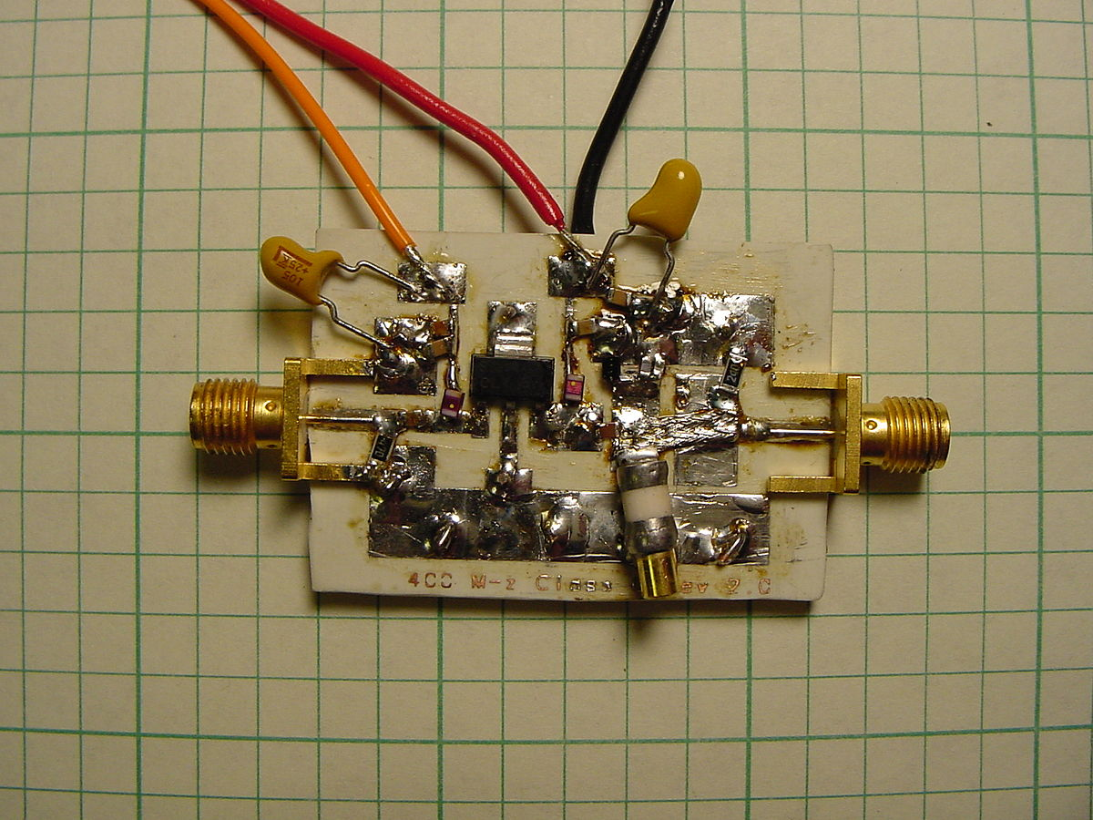 Rf Power Amplifier Wikipedia 50 Watt Transistor Circuit