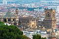 Granada cathedral from mirador San Cristobal Spain.jpg
