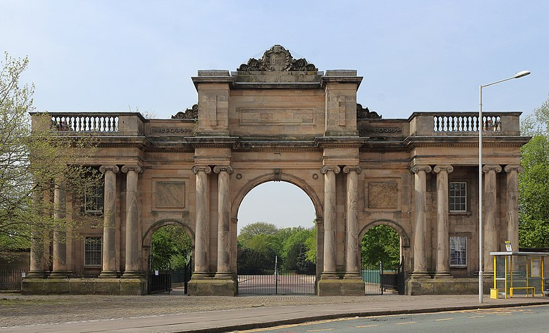 The Grand Entrance to Birkenhead Park, Grade II* listed.