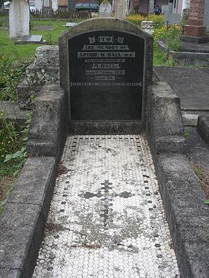 Arthur Hall (New Zealand politician) - Arthur Hall's grave