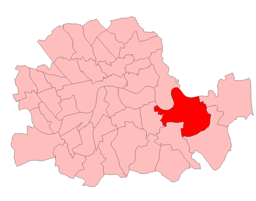 The seat and others in the County of London 1950-74 Greenwich1950.png