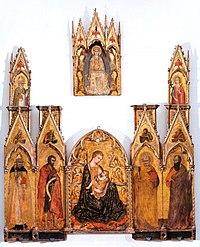 Gregorio di Cecco di Luca. Polyptych Tolomei. 1423. Siena, Pinacoteca..jpg
