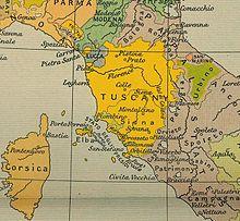 Toskana Karte Deutsch.Grossherzogtum Toskana Wikipedia