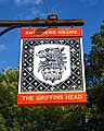 Griffins Head public house sign at Chillenden Kent England.jpg