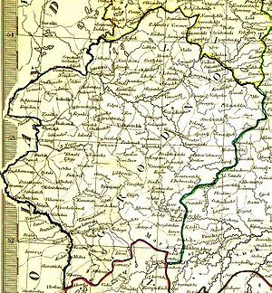 Grodno Governorate - Grodno Governorate in 1834 (English)