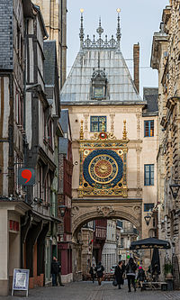 Gros-Horloge, Rouen, West View 140215 2.jpg