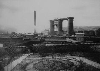 Grosmont, North Yorkshire - Image: Grosmont Iron Works, circa 1880