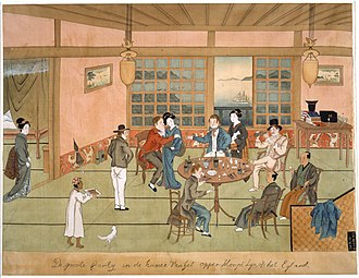 Tokugawa shogunate - Dutch trading post in Dejima, c. 1805