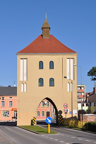 Gryfice - Wysoka Tower was once part of the medieval defensive walls which surrounded the town