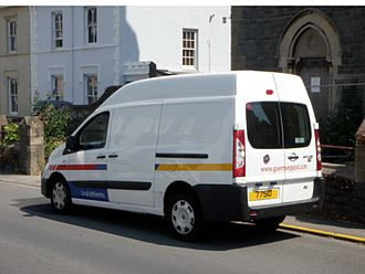 Guernsey Post - One of Guernsey Post's Fiat Scudo postal vans, in Saint Peter Port