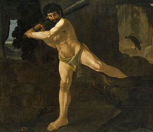 Erymanthian Boar - Heracles and the Erymanthian Boar, by Francisco de Zurbarán, 1634 (Museo del Prado)