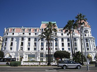 Hotel Negresco - The hotel as seen from the Promenade des Anglais