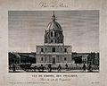 Hôtel des Invalides, Paris; panoramic view. Line engraving. Wellcome V0014318.jpg
