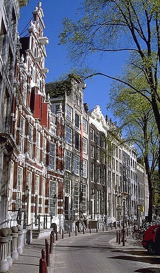 Michael Reyniersz Pauw - A contemporary image of the same row of houses
