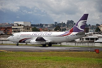 Icaro Air - A Boeing 737-200 of Icaro Air at Quito's Old Mariscal Sucre International Airport (June 2008)