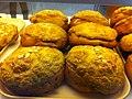HK CWB Yee Wo Street 大班麵包西餅 TaiPan bakery breads 杏仁菠蘿包 Almond Pineapple Bun Sept-2013.JPG