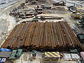 HK Central Piers construction site building material steel.JPG